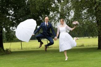 bruiloft sprong